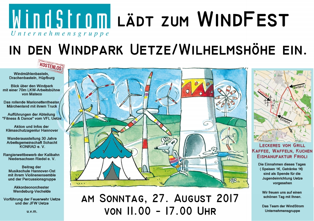 Plakat zum Windfest