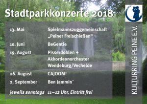Stadtparkkonzerte 2018