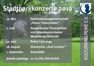 Stadtparkkonzerte in Peine 2019