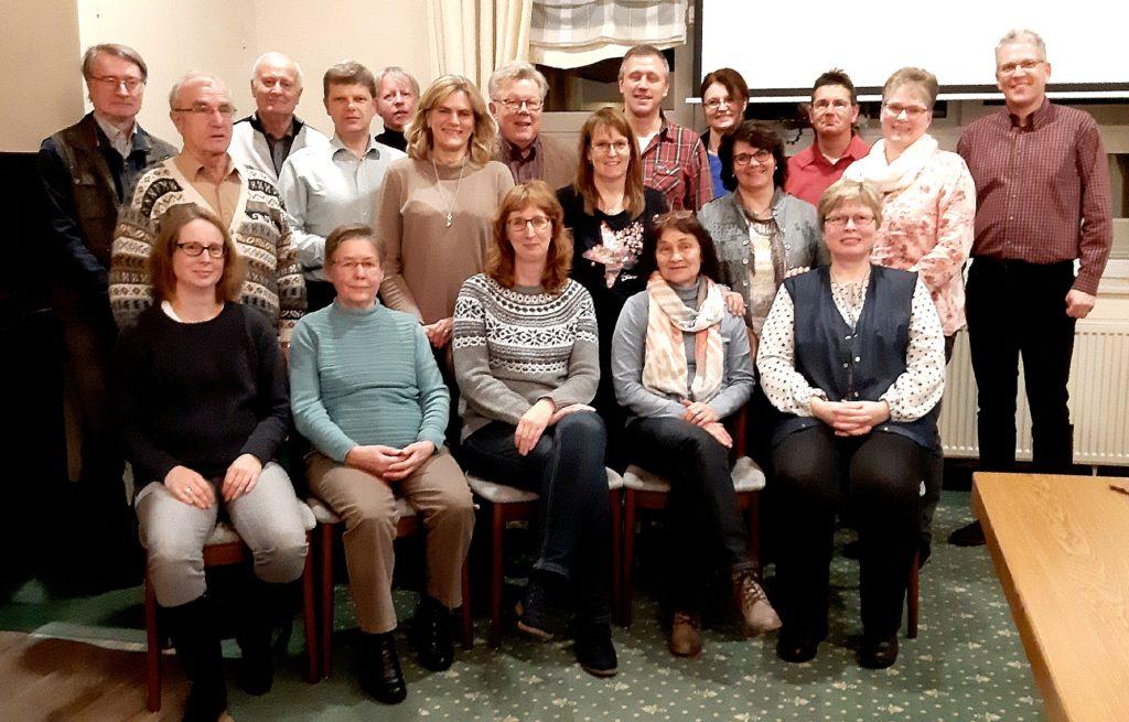 Das Akkordeonorchester bei der Jahreshauptversammlung am 9. Januar 2020.