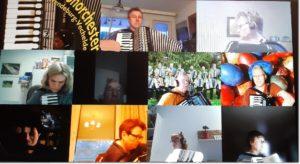 Online-Orchesterprobe vom 01.04.2021